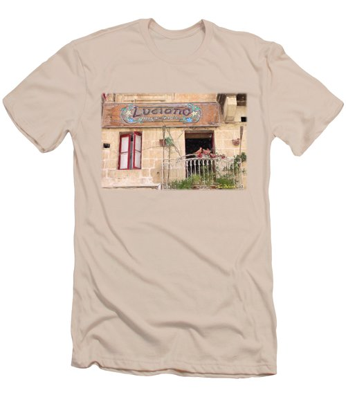 Luciano's Pizza Men's T-Shirt (Slim Fit) by Jon Delorme