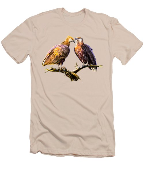 Madagascar Fish Eagle  Men's T-Shirt (Slim Fit) by Anthony Mwangi