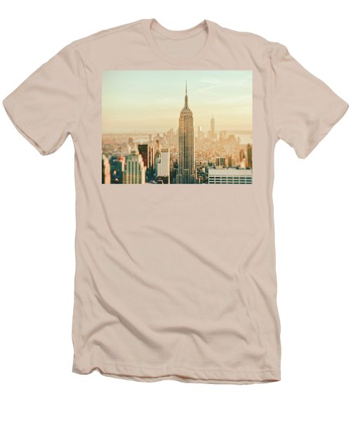 New York City - Skyline Dream Men's T-Shirt (Slim Fit) by Vivienne Gucwa
