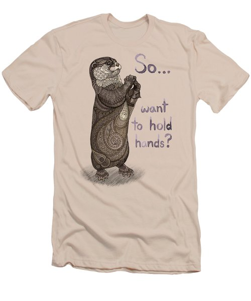 Otter Valentine Men's T-Shirt (Slim Fit) by ZH Field