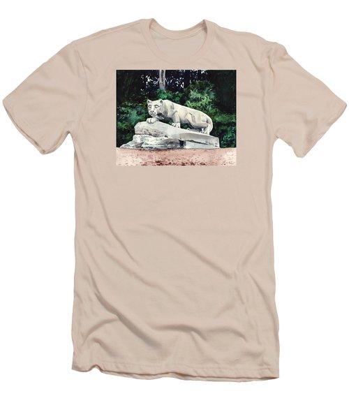 Penn State Nittany Lion Shrine University Happy Valley Joe Paterno Men's T-Shirt (Slim Fit) by Laura Row
