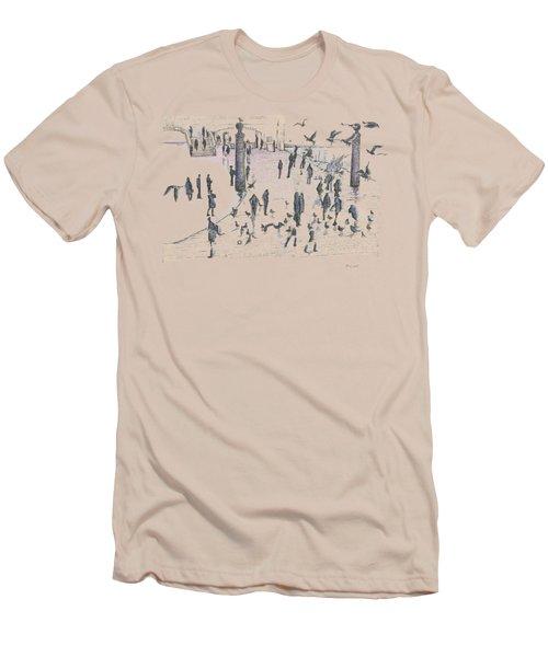 People And Birds, 19 December, 2015 Men's T-Shirt (Slim Fit) by Tatiana Chernyavskaya