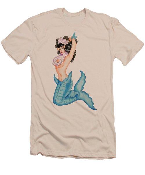 Pinup Mermaid Men's T-Shirt (Slim Fit) by Noelle Lucia