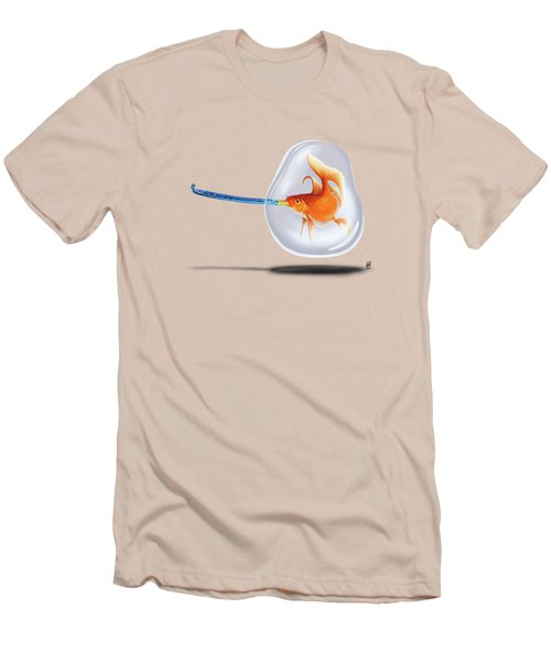 Popper Colour Men's T-Shirt (Slim Fit) by Rob Snow