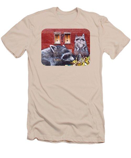 Raccoons Men's T-Shirt (Slim Fit) by Ethna Gillespie