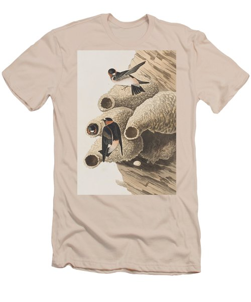 Republican Or Cliff Swallow Men's T-Shirt (Slim Fit) by John James Audubon
