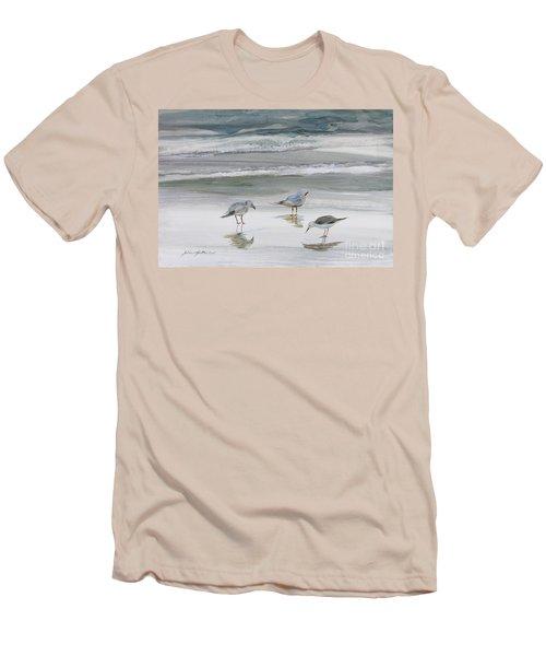 Sandpipers Men's T-Shirt (Slim Fit) by Julianne Felton