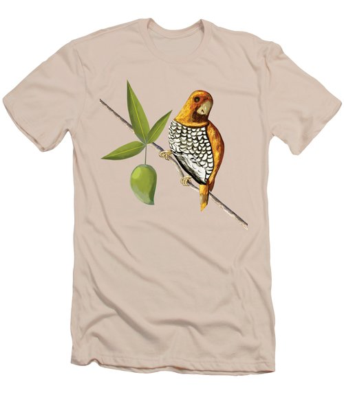 Scaly Breasted Munia D Men's T-Shirt (Slim Fit) by Thecla Correya