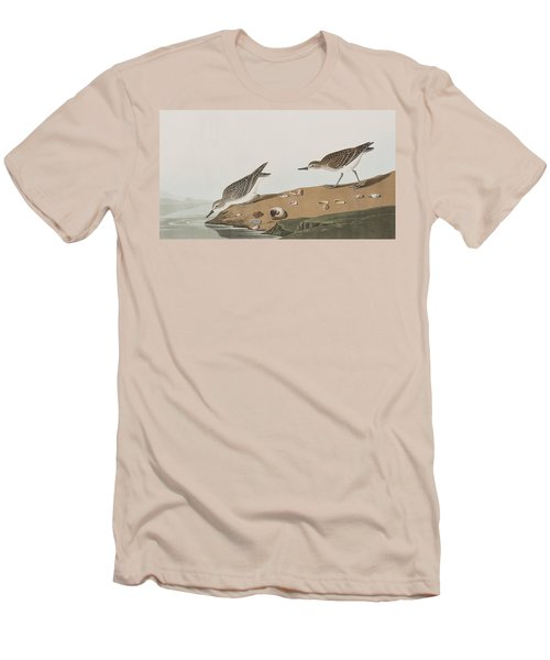 Semipalmated Sandpiper Men's T-Shirt (Slim Fit) by John James Audubon