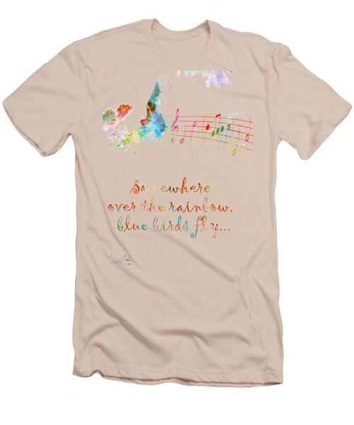 Somewhere Over The Rainbow Men's T-Shirt (Slim Fit) by Nikki Smith