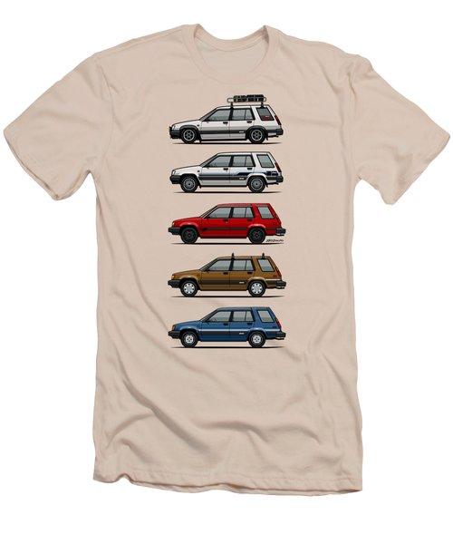 Stack Of Toyota Tercel Sr5 4wd Al25 Wagons Men's T-Shirt (Slim Fit) by Monkey Crisis On Mars