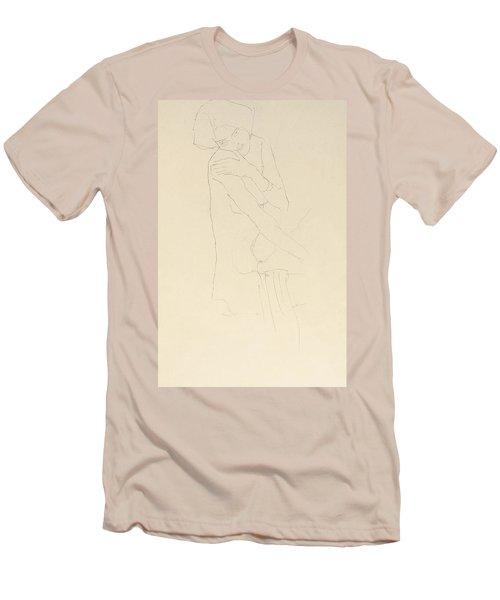 Study For Adele Bloch Bauer II Men's T-Shirt (Slim Fit) by Gustav Klimt