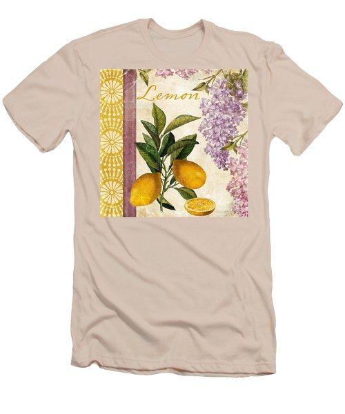 Summer Citrus Lemon Men's T-Shirt (Slim Fit) by Mindy Sommers