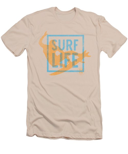 Surf Life 1 Men's T-Shirt (Slim Fit) by SoCal Brand