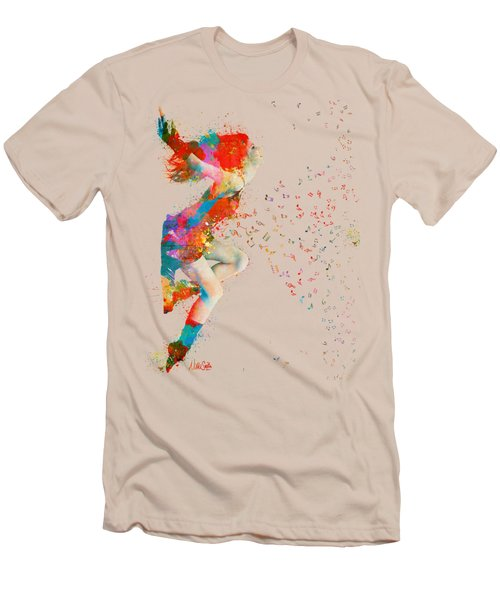 Sweet Jenny Bursting With Music Men's T-Shirt (Slim Fit) by Nikki Smith
