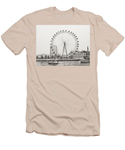 The London Eye Men's T-Shirt (Slim Fit) by Vincent Alexander Booth