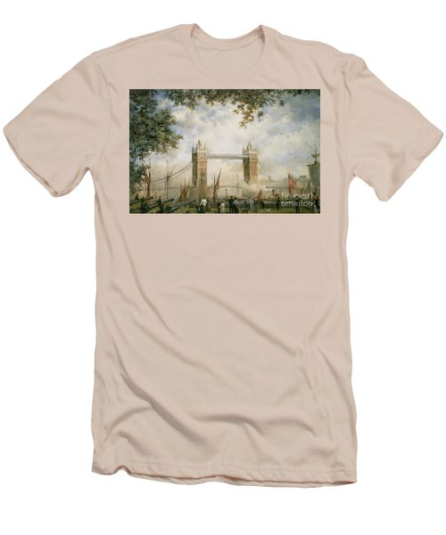 Tower Bridge - From The Tower Of London Men's T-Shirt (Slim Fit) by Richard Willis