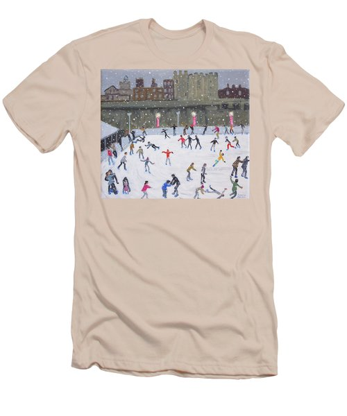 Tower Of London Ice Rink Men's T-Shirt (Slim Fit) by Andrew Macara