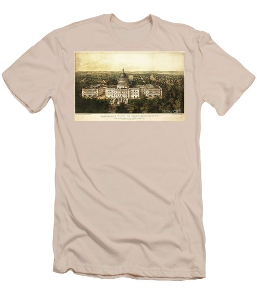 Washington City 1857 Men's T-Shirt (Slim Fit) by Jon Neidert