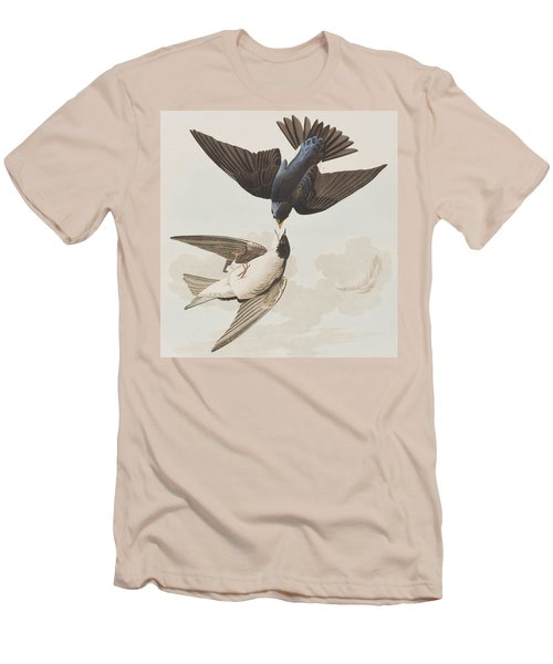 White-bellied Swallow Men's T-Shirt (Slim Fit) by John James Audubon