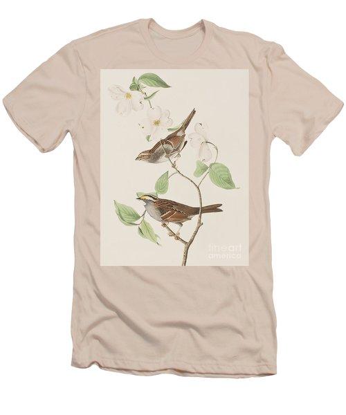 White Throated Sparrow Men's T-Shirt (Slim Fit) by John James Audubon