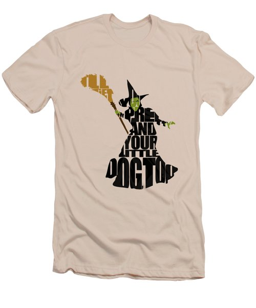 Wicked Witch Of The West Men's T-Shirt (Slim Fit) by Ayse Deniz