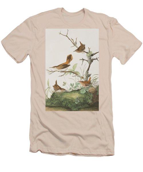 Winter Wren Or Rock Wren Men's T-Shirt (Slim Fit) by John James Audubon