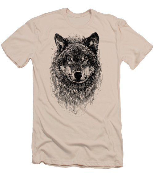 Wolf Men's T-Shirt (Slim Fit) by Michael  Volpicelli