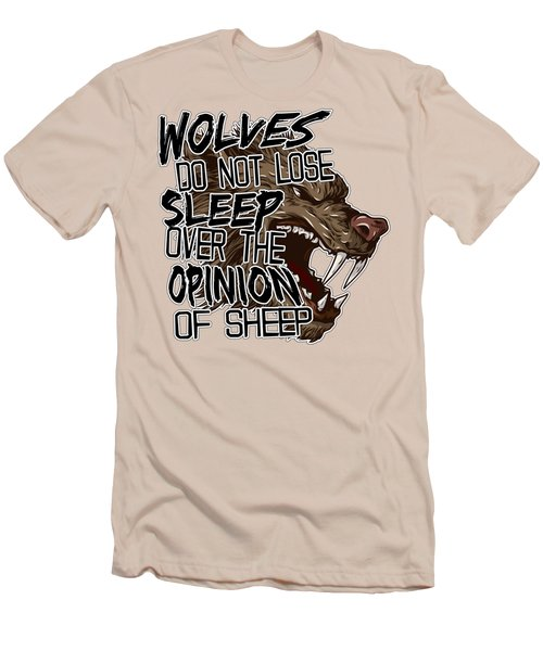 Wolves And Sheep Men's T-Shirt (Slim Fit) by Michelle Murphy