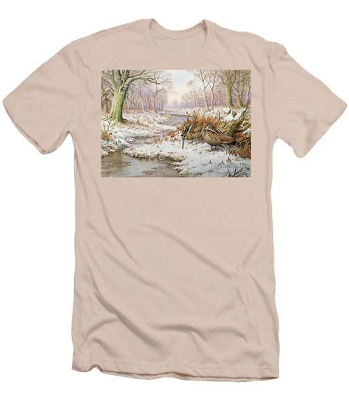 Woodcock Men's T-Shirt (Slim Fit) by Carl Donner