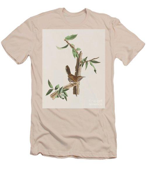 Wren Men's T-Shirt (Slim Fit) by John James Audubon