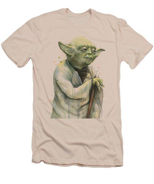 Yoda Portrait Men's T-Shirt (Slim Fit) by Olga Shvartsur