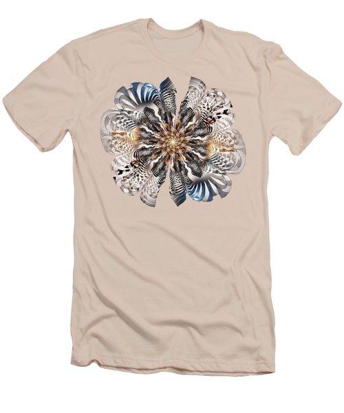 Zebra Flower Men's T-Shirt (Slim Fit) by Anastasiya Malakhova