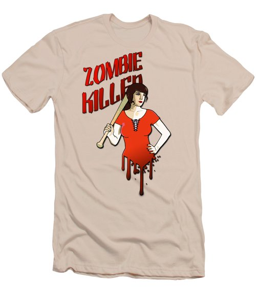 Zombie Killer Men's T-Shirt (Slim Fit) by Nicklas Gustafsson