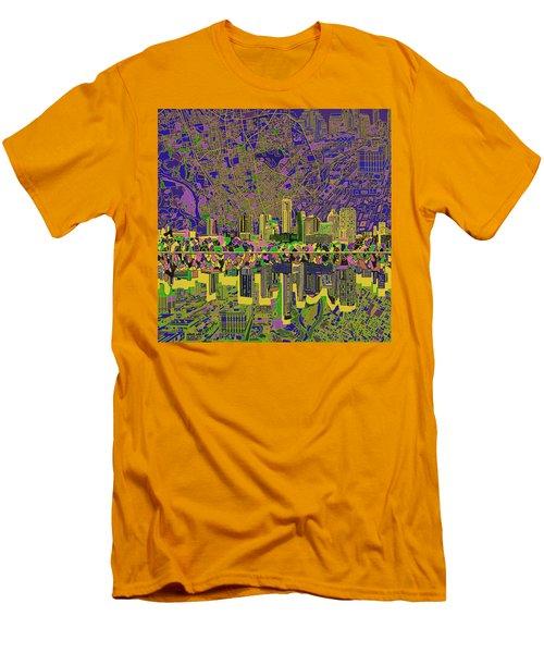 Austin Texas Skyline Men's T-Shirt (Slim Fit) by Bekim Art