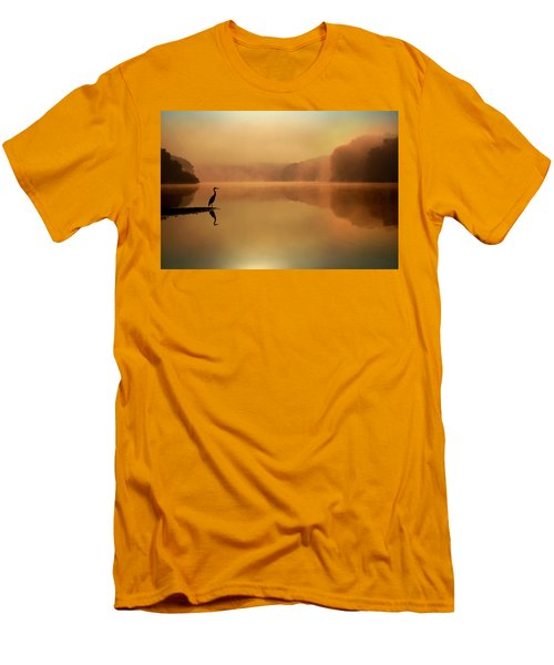 Beside Still Waters Men's T-Shirt (Slim Fit) by Rob Blair
