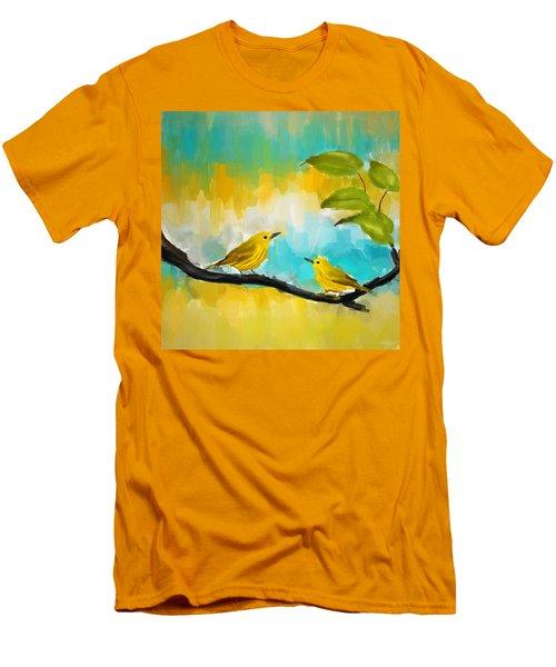 Companionship Men's T-Shirt (Slim Fit) by Lourry Legarde