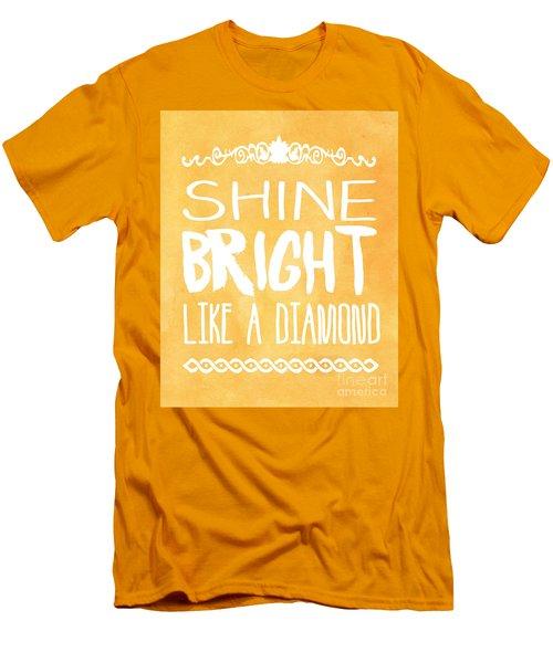 Shine Bright Orange Men's T-Shirt (Slim Fit) by Pati Photography