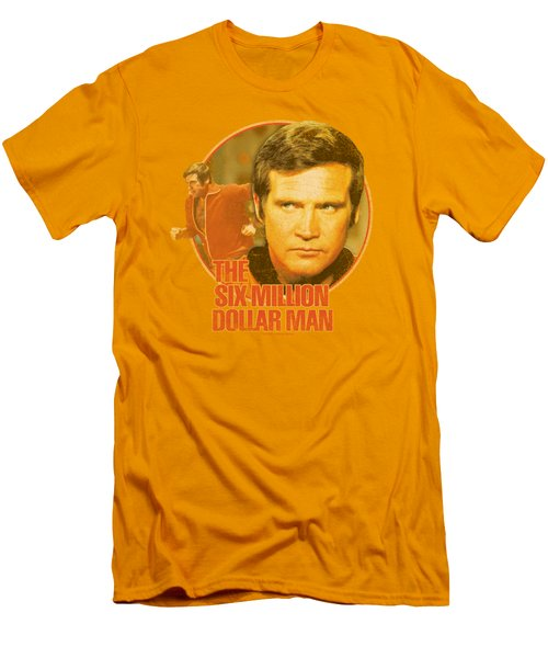 Six Million Dollar Man - Run Faster Men's T-Shirt (Slim Fit) by Brand A