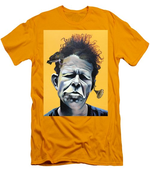 Tom Waits - He's Big In Japan Men's T-Shirt (Slim Fit) by Kelly Jade King