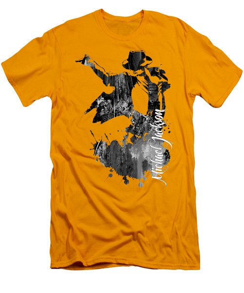 Michael Jackson Collection Men's T-Shirt (Slim Fit) by Marvin Blaine