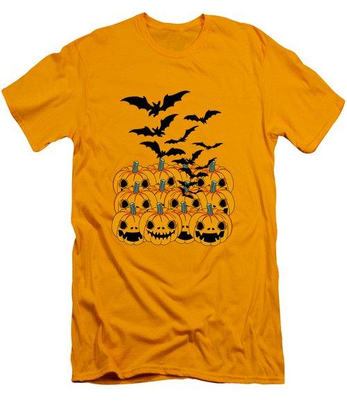 Pumpkin Men's T-Shirt (Slim Fit) by Mark Ashkenazi