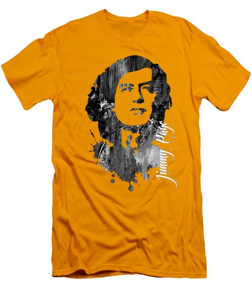 Jimmy Page Collection Men's T-Shirt (Slim Fit) by Marvin Blaine