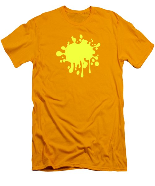 Canary Yellow Solid Color Decor Men's T-Shirt (Slim Fit) by Garaga Designs