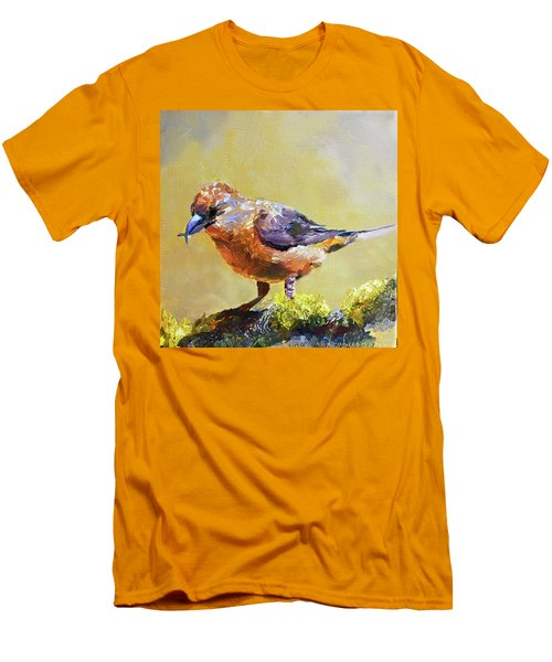 Crossbill Men's T-Shirt (Slim Fit) by Jan Hardenburger