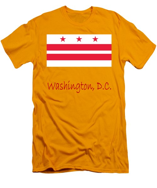 District Of Columbia Flag Men's T-Shirt (Slim Fit) by Frederick Holiday