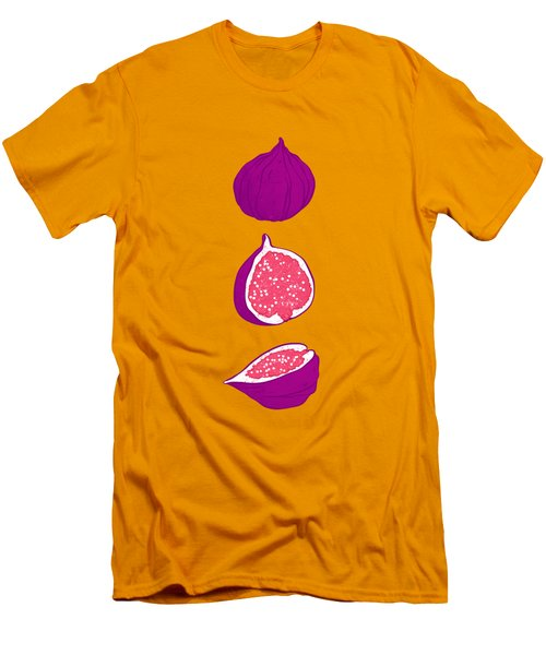 Fig Men's T-Shirt (Slim Fit) by Evgenia Chuvardina