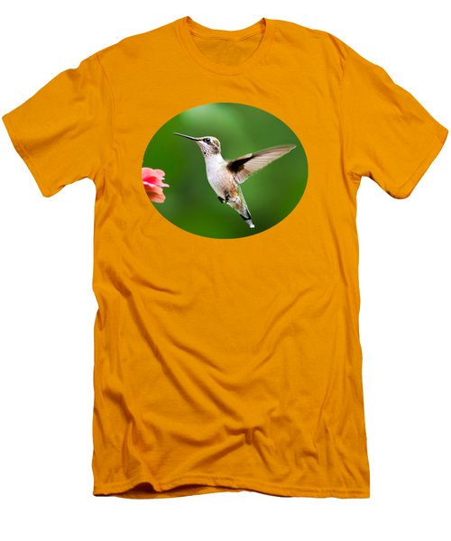 Free As A Bird Hummingbird Men's T-Shirt (Slim Fit) by Christina Rollo