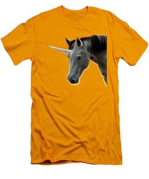 Glowing Unicorn Men's T-Shirt (Slim Fit) by Shane Bechler