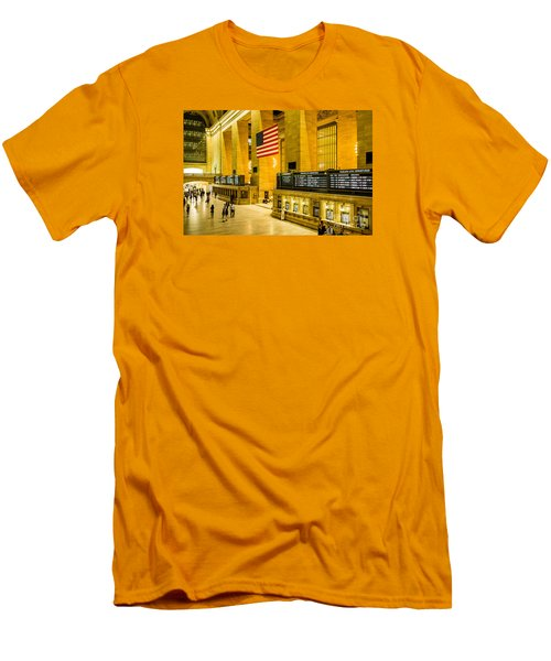 Men's T-Shirt (Slim Fit) featuring the photograph Grand Central Pride by M G Whittingham